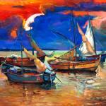 """""""Fishing boats"""" by boyan"""