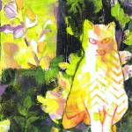 """Tabbies In the Garden"" by SharonGiles"