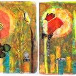 """Sun To The Flame diptych"" by SharonGiles"