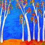 """whimsical BirchTrees"" by halehmahbod"