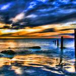 """Brilliant Sunset at Washed Out Pier"" by ElainePlesser"