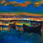 """""""Boats and town"""" by boyan"""