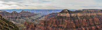 Panoramic View Of The North Rim