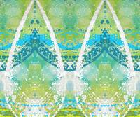 Blue Green Abstract Teardrops