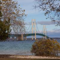 Mackinac Bridge Art Prints & Posters by anne thompson