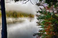 Lake with Morning Fog During Fall