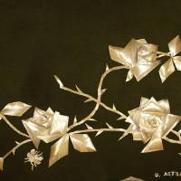 Straw Roses on Velvet Art Prints & Posters by Ursula Astras