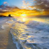 beautiful landscape photography beach sunrise Art Prints & Posters by eszra tanner