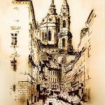 """St. Nicholas Church in Prague"" by MelanieD"