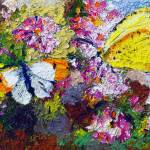 """Summer Butterflies on Carnations"" by GinetteCallaway"