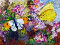 Summer Butterflies on Carnations