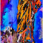 """Abstract Statue of Liberty New York"" by GinetteCallaway"