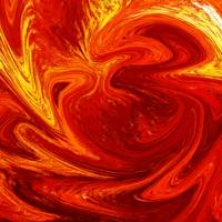 Hot Abstract Painting Flaming Vortex