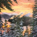 """Squamish BC sunset winter painting"" by dgolden"