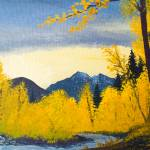 """""""Sun and fall colors Methow River Winthrop, WA"""" by dgolden"""