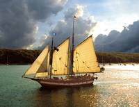 Mystic Whaler under full sail