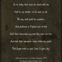 St Crispins Day Speech Band Of Brothers Art Prints & Posters by Wayne Moran
