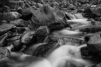 Water-Falling-Boulder-Creek-Black-White