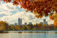 Denver Skyline Fall Foliage View