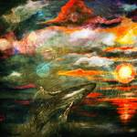 """New Sun Rising Fantasy Seascape"" by GinetteCallaway"