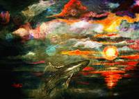 New Sun Rising Fantasy Seascape