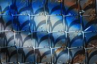 Chain Link Fence With Colors and Shadow