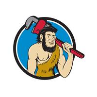 Neanderthal CaveMan Plumber Monkey Wrench Circle C