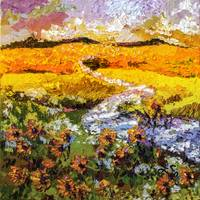 Sunflower Fields Summer Landscape Provence