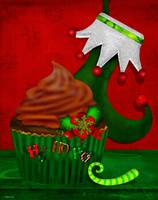 Holiday Cupcake Whimsey Folk Art