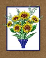 Sunflowers Bouquet Painting