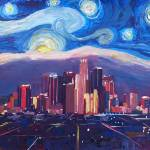 """Starry Night in Los Angeles - Van Gogh Feeling wit"" by arthop77"