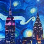 """""""Starry Night in New York - Van Gogh Feelings"""" by arthop77"""
