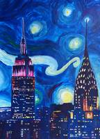 Starry Night in New York - Van Gogh Feelings