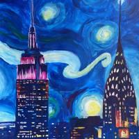 Starry Night in New York - Van Gogh Feelings Art Prints & Posters by M Bleichner