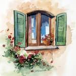 """Tuscan Window"" by WillyDaleArt"