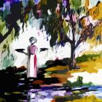 """""""Abstract Savannah Bird Girl by Ginette"""" by GinetteCallaway"""