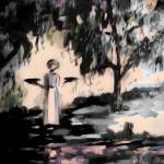 """Savannah Bird Girl Garden of Good and Evil"" by GinetteCallaway"