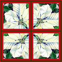White Poinsettia Painting Holiday Decor