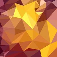 Golden Poppy Yellow Abstract Low Polygon Backgroun