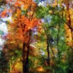 """Autumn Woods"" by susansartgallery"