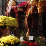 """Scarecrows and Mums"" by susansartgallery"