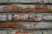 White and Red Brick in a Wall