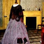 """19th Century Plaid Dress"" by susansartgallery"