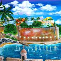 La Fortaleza San Juan, Puerto Rico Art Prints & Posters by Galina Victoria