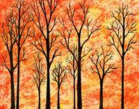 Fall In The Woods Abstract Painting