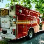 """Back of Fire Truck"" by susansartgallery"