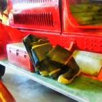 """Two Pairs of Boots on Fire Truck"" by susansartgallery"