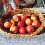 """Apples and Bananas in Basket"" by susansartgallery"