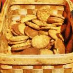 """Ginger Snap Cookies in Basket"" by susansartgallery"