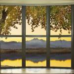 """Rocky Mountain Golden Reflections Bay Window View"" by lightningman"